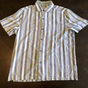 Tommy Bahama Striped Button Down Camp Shirt